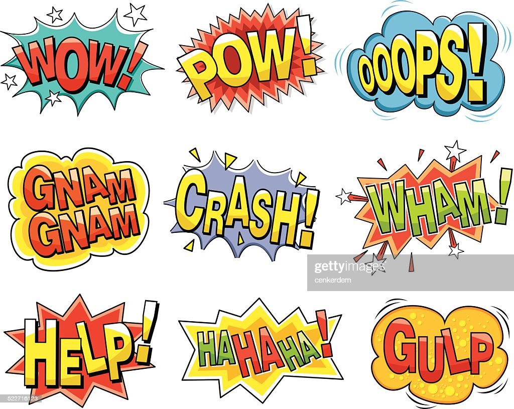 Cartoon Sound Effects High Res Vector Graphic Getty Images