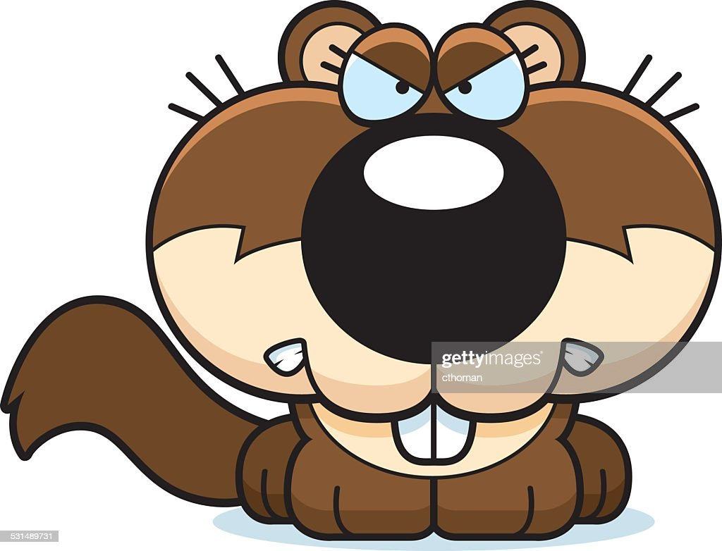 Cartoon Squirrel Angry