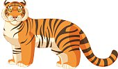 Cartoon standing tiger