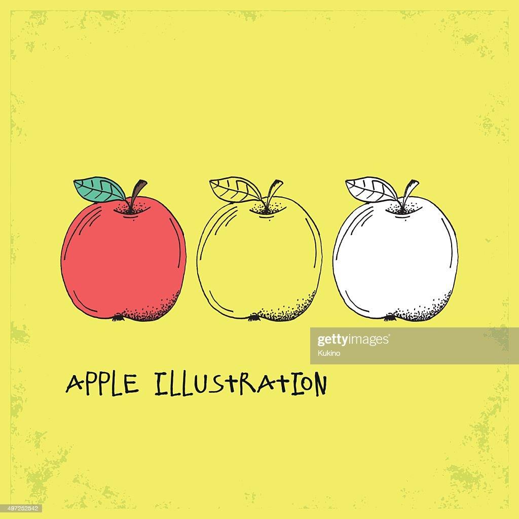 Cartoon Style Apple Illustration