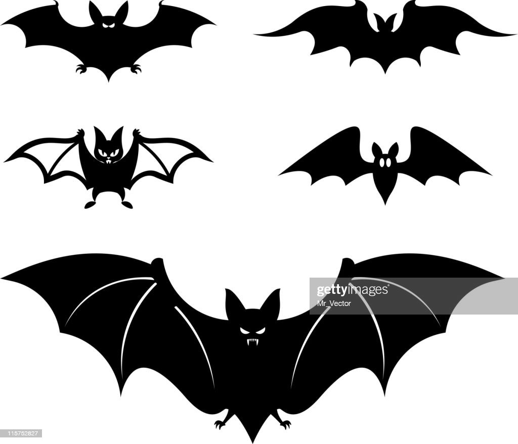 Cartoon style bats - Vector illustration