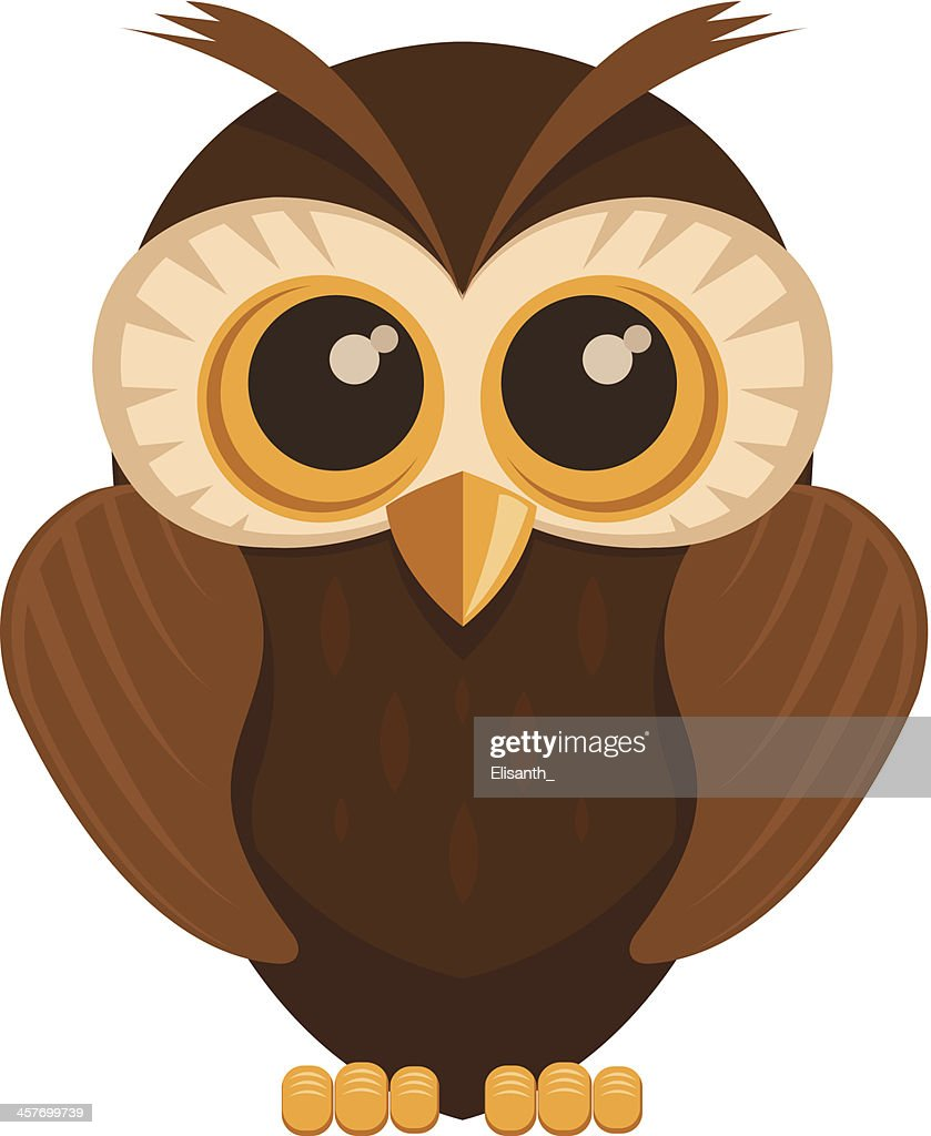Cartoon style cute Owl bird