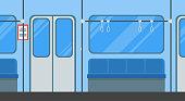 Cartoon Subway Train Card Poster. Vector