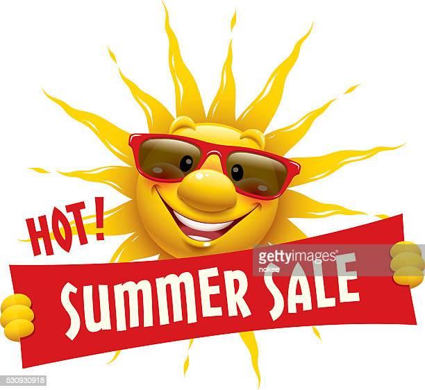 Cartoon Sun - Summer Sale