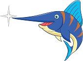 Cartoon swordfish