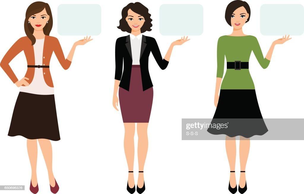 Cartoon teacher woman presentation