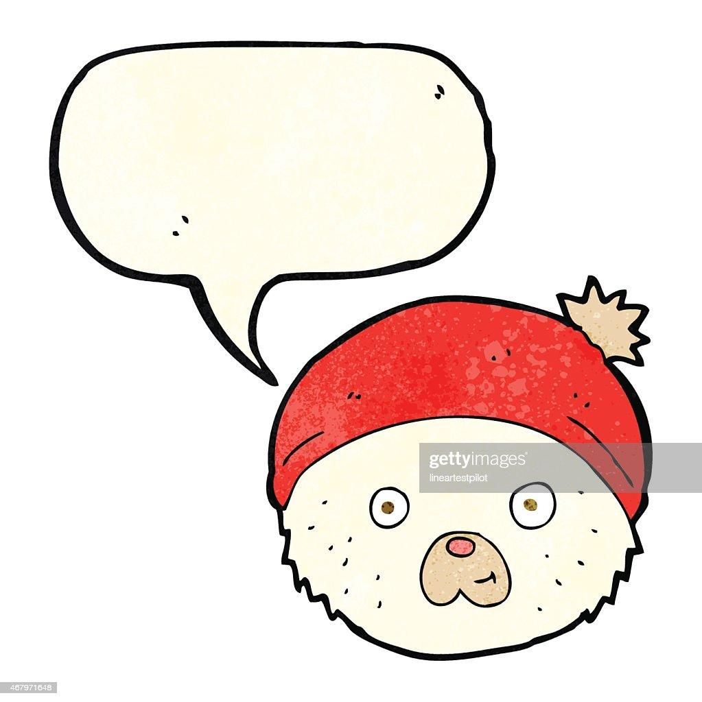 Ours En Peluche Dessin Anime Avec Bulle De Dialogue Visage Clipart