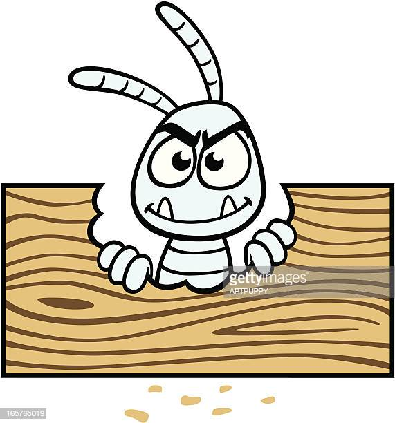 illustrations, cliparts, dessins animés et icônes de termite de bois dessin animé - termite