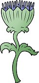 cartoon thistle