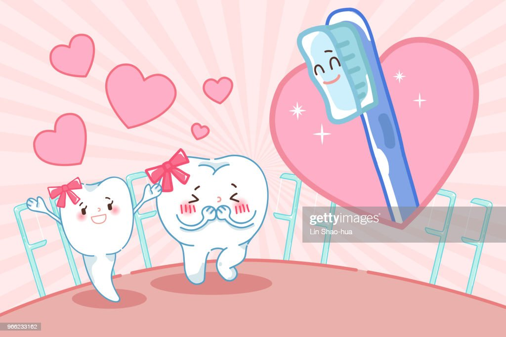 cartoon tooth with dental