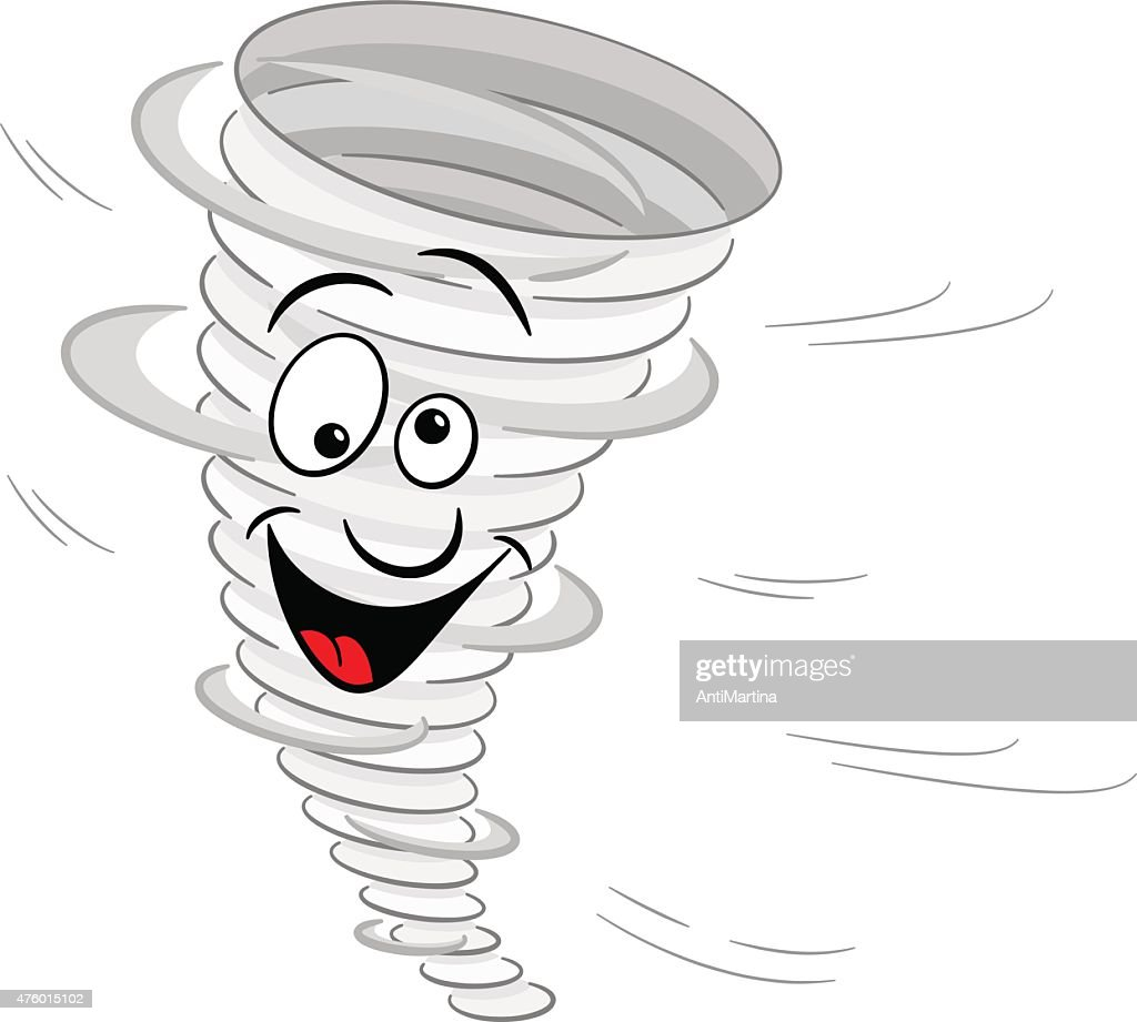 cartoon tornado on white background