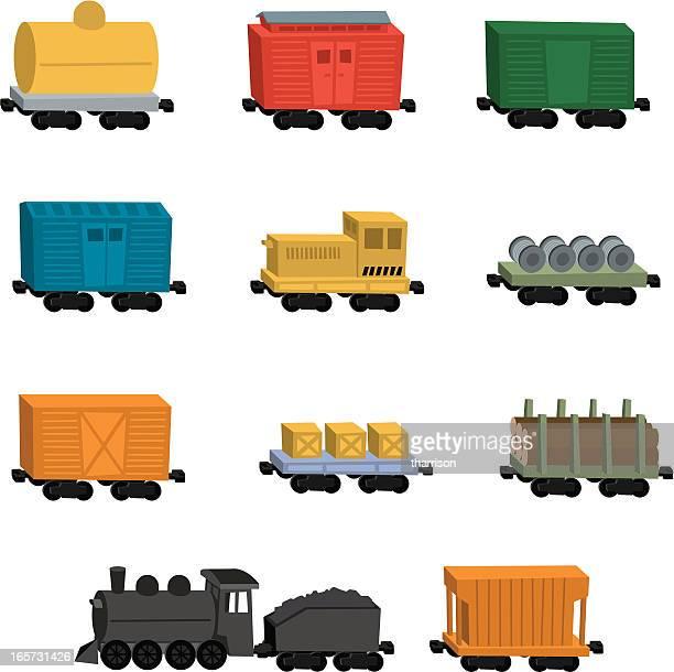 Cartoon Train Cars
