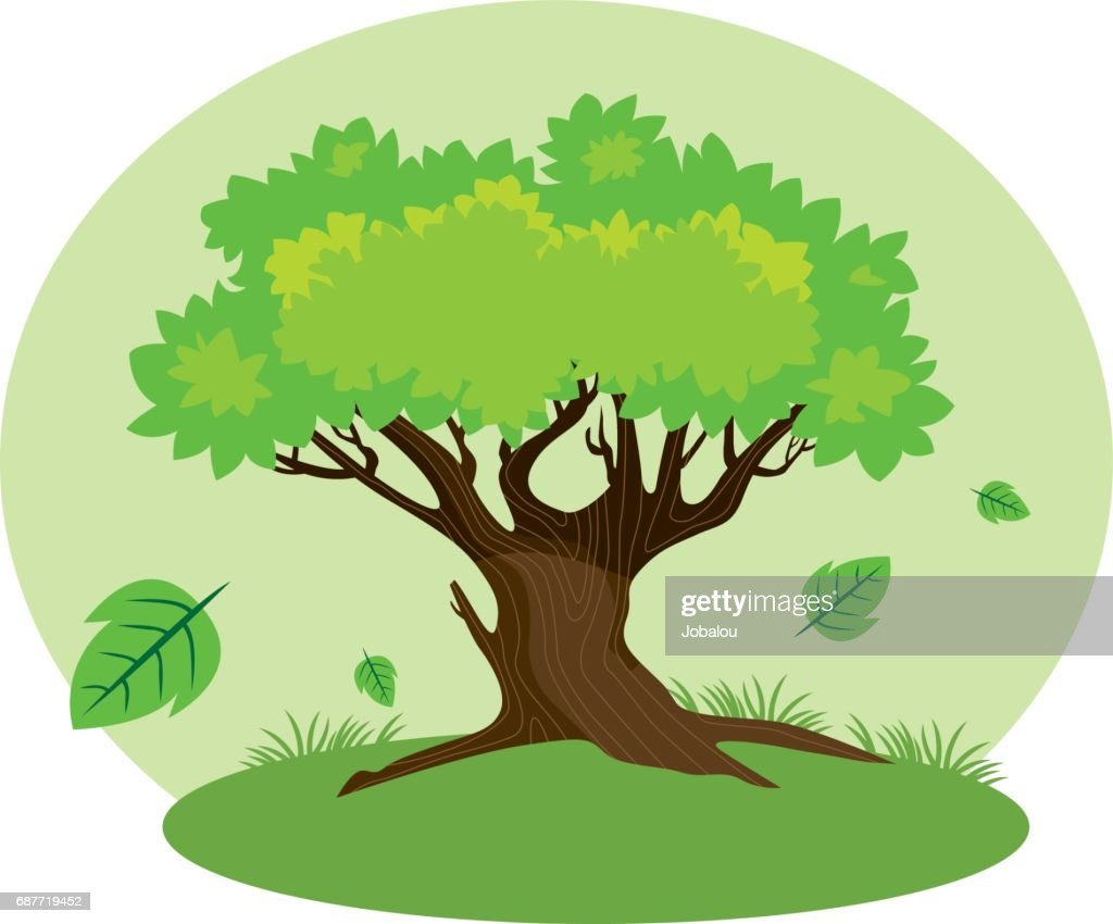 Cartoon Tree : stock illustration