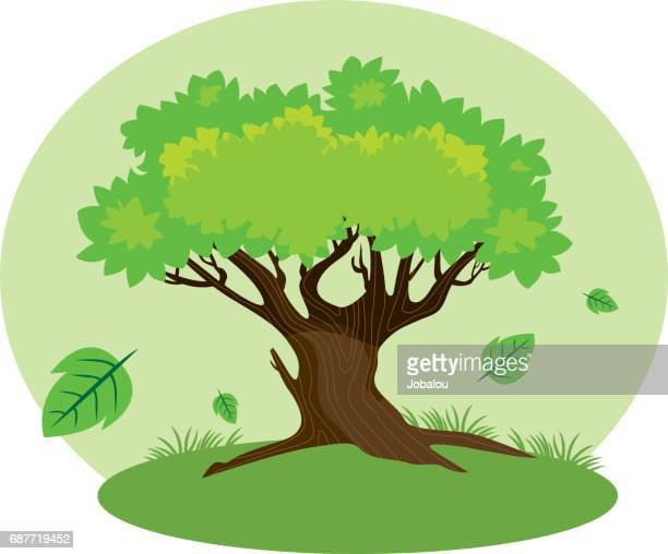 cartoon tree - tree trunk stock illustrations, clip art, cartoons, & icons