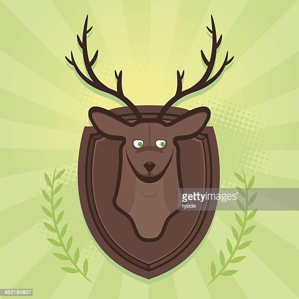 Cartoon trophy deer