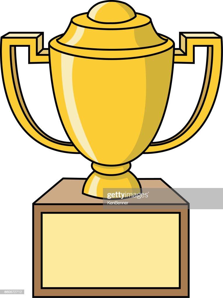 Cartoon trophy.