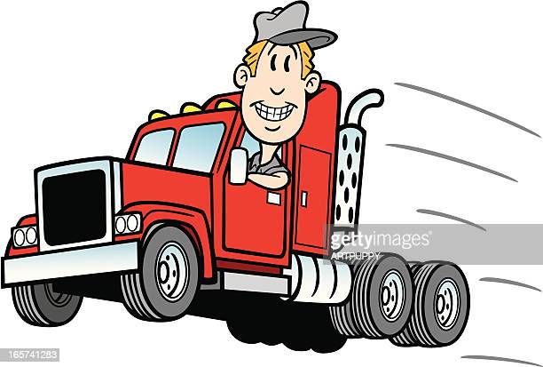 illustrations, cliparts, dessins animés et icônes de dessin de camionneur - chauffeur routier