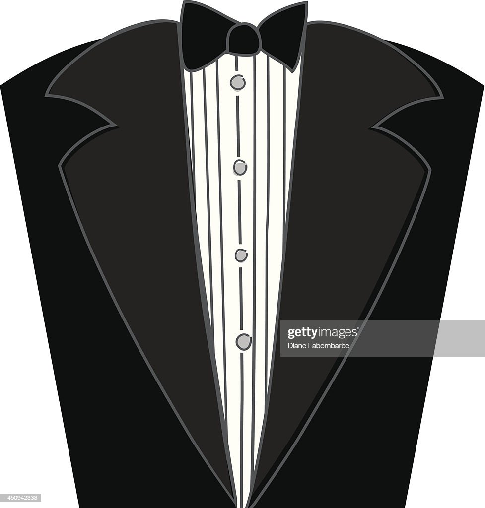 cartoon tuxedo icon vector art | getty images