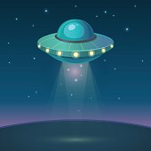 Cartoon UFO vector illustration