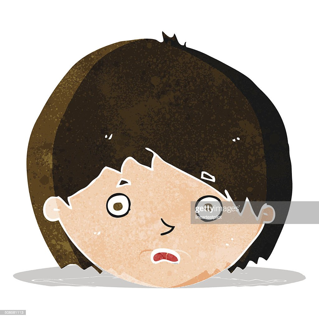 cartoon unhappy boy : Vector Art