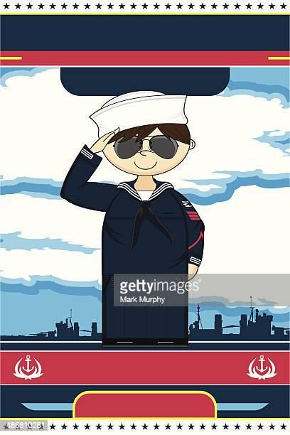 cartoon us navy officer - one man only stock illustrations, clip art, cartoons, & icons