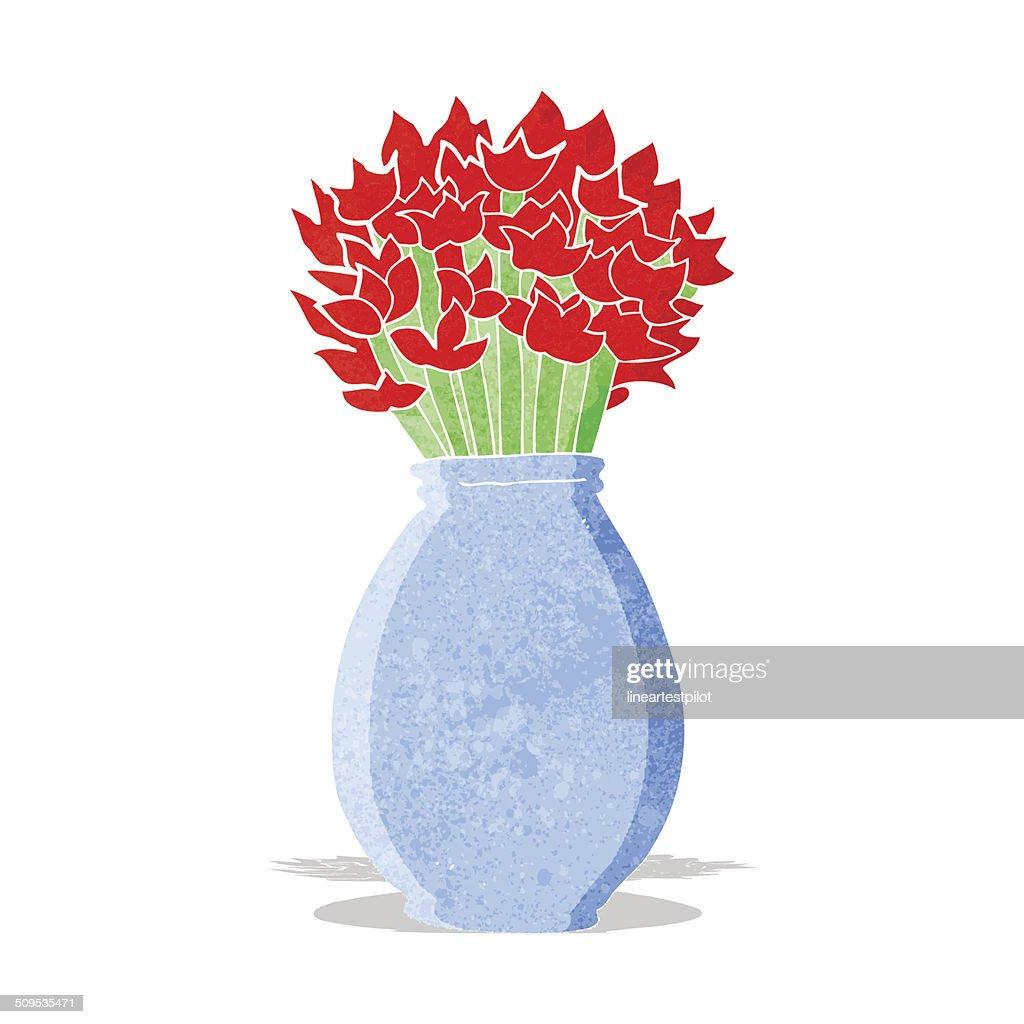Dessin Representant Des Fleurs Dans Un Vase Clipart Vectoriel