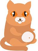 Cartoon vector cat character