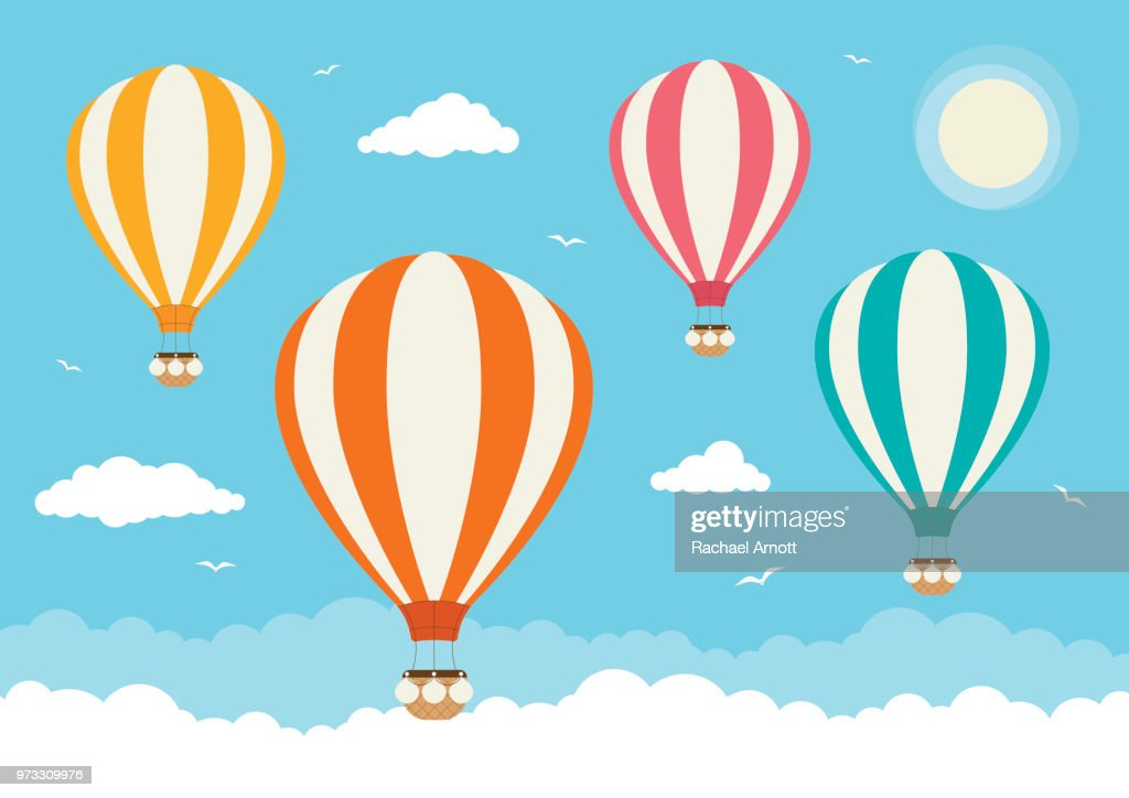 Cartoon Vector Hot Air Balloons