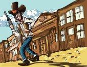 Cartoon Wild West cowboy