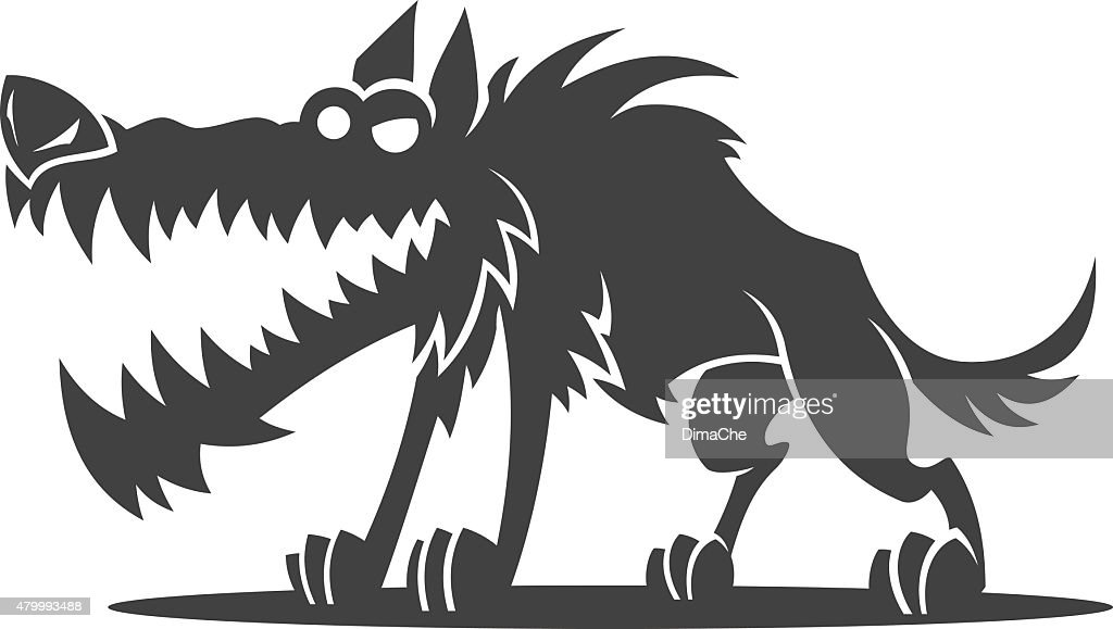 cartoon wolf vector art | getty images