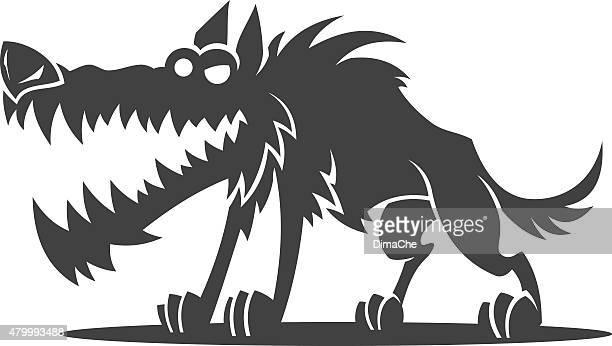 ilustrações de stock, clip art, desenhos animados e ícones de lobo - lobisomem