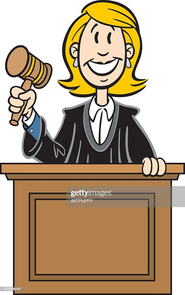 Judge woman reading law book.