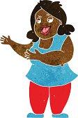 cartoon woman singing