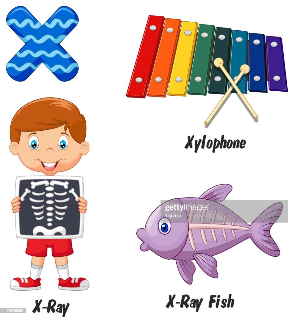 Cartoon X alphabet
