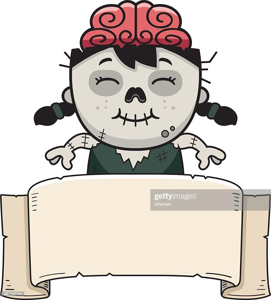 Cartoon Zombie Banner