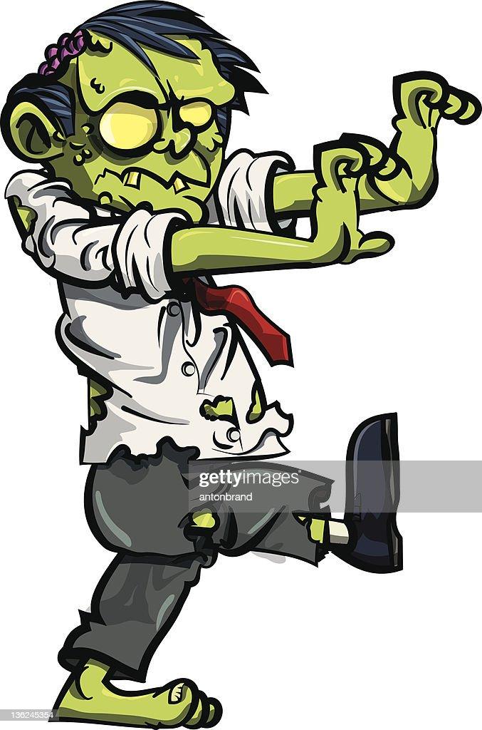 Cartoon zombie businessman