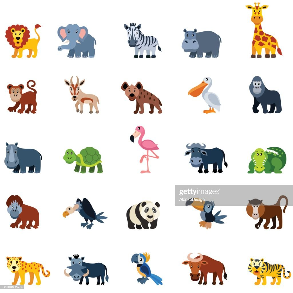 Cartoon Zoo Animals High-Res Vector Graphic - Getty Images