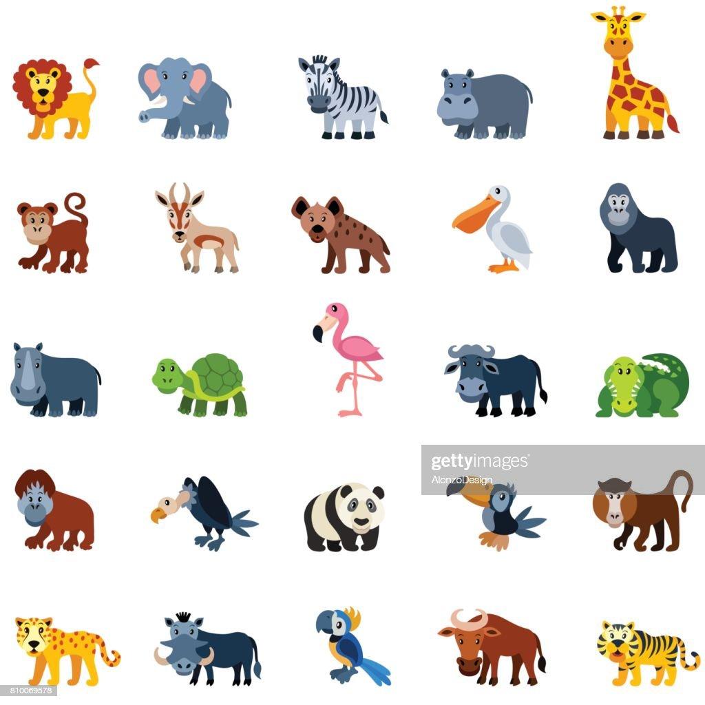 Cartoon Zoo Animals