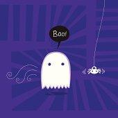Cartoonish illustration of a ghost
