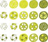 Cartoonish Recycle icon