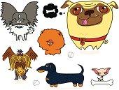 Cartoonish Toy Dogs