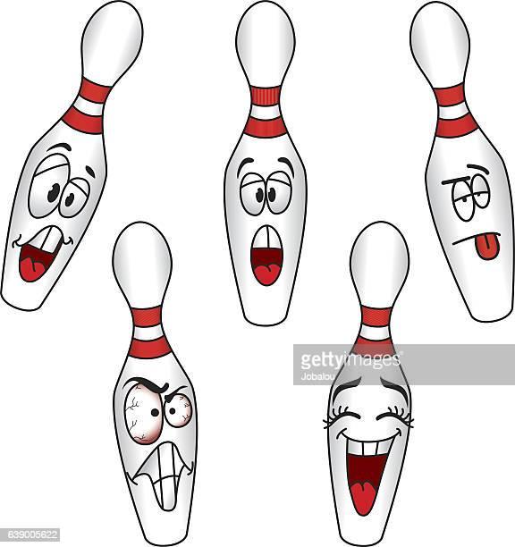cartoons bowling pins - bowling stock illustrations, clip art, cartoons, & icons