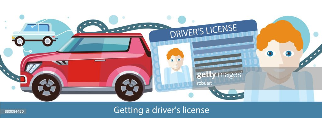 Cartoons Man With Driver License Vector Art