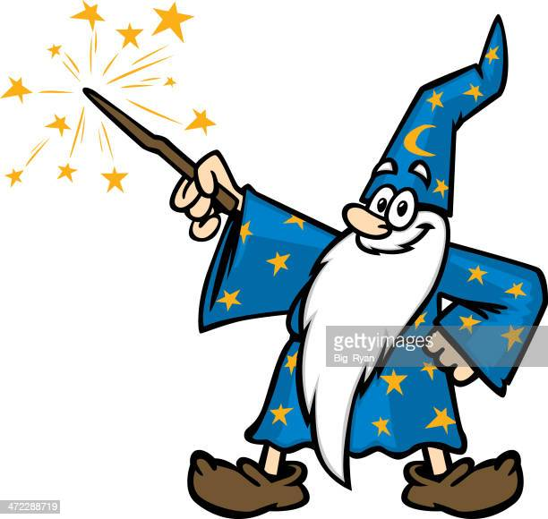 cartoony wizard - wizard stock illustrations, clip art, cartoons, & icons