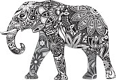 Carved elephant.