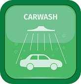 Carwash sign on a green buttom