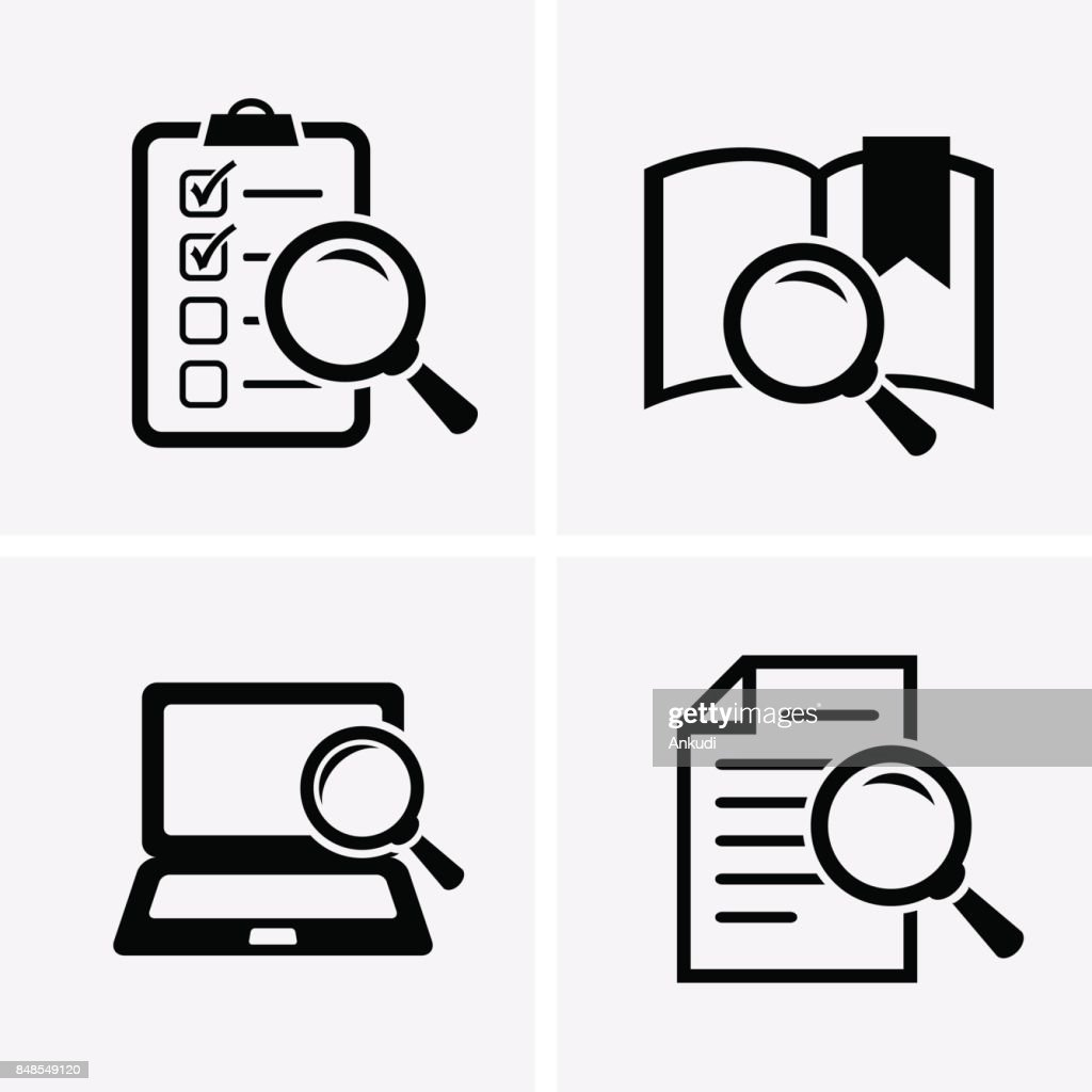 Case Studies Icons set.