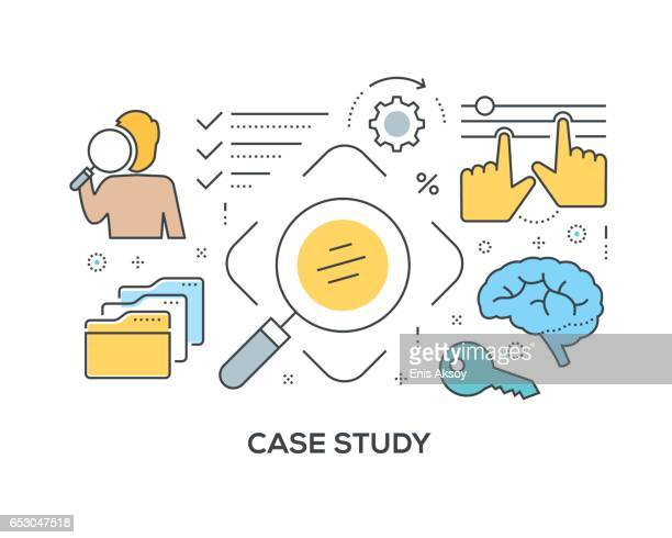 Case Study Concept with icons