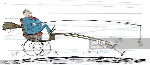 ilustrações, clipart, desenhos animados e ícones de dinheiro motorista de riquixá - ditados