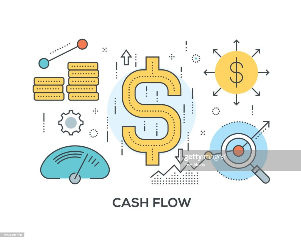 Cash Flow Concept with icons : stock illustration